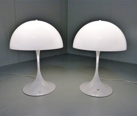 Set of 2 XL Panthella table lamps by Verner Panton, 1970's