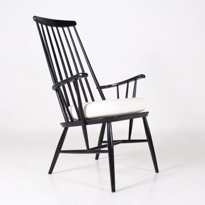 Lacquered beech armchair, 1960's