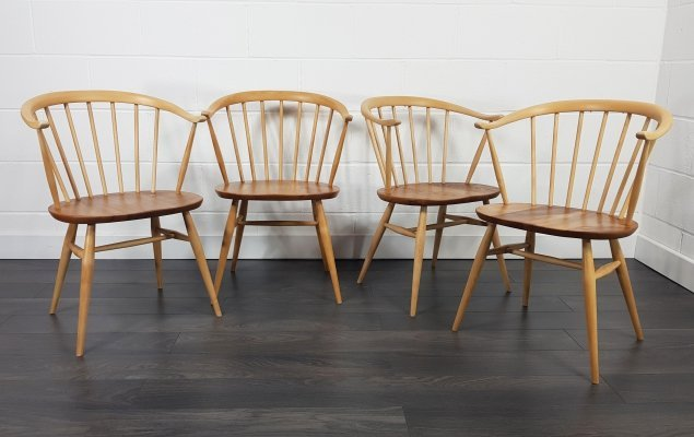 Ercol Cow Horn Chairs, 1960s