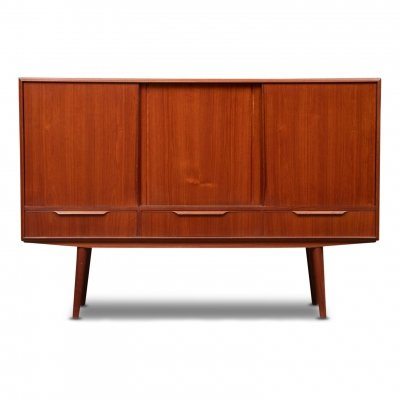 Vintage Danish design teak highboard