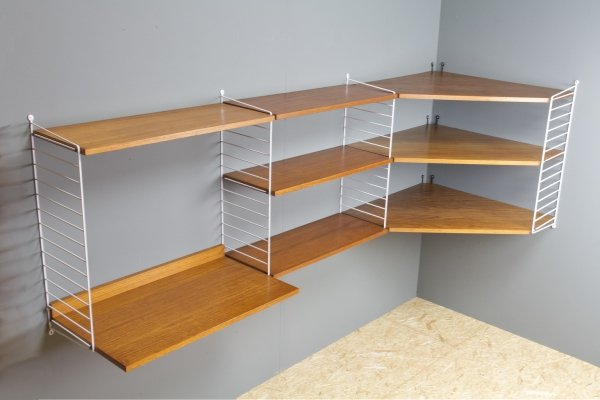 Modular String Shelving unit in teak, 1960s