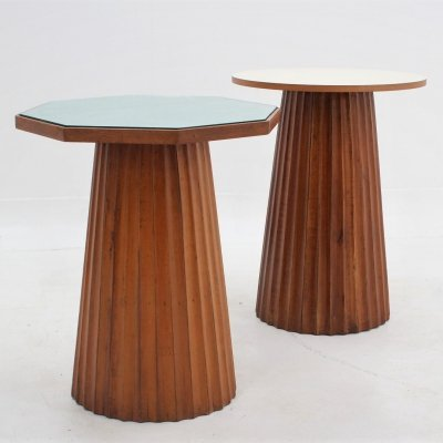 Vintage italian design formica side tables, 1950s