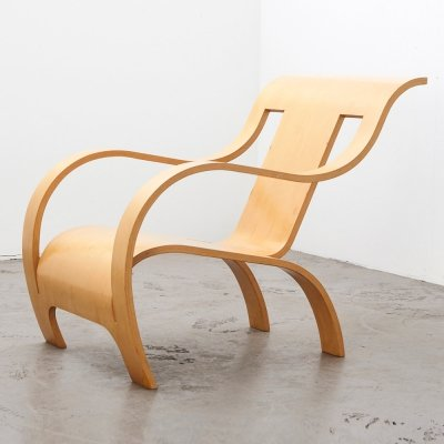 Gerald Summers Plywood Lounge Chair, Italy 1933 / 1998