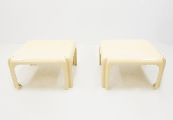 Pair of Elena side tables by Vico Magistretti, 1960s