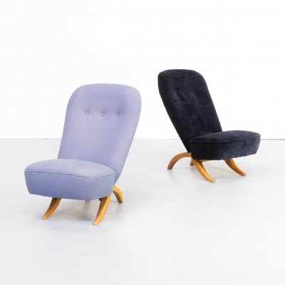 Pair of Theo Ruth 'congo' fauteuils for Artifort, 1950s