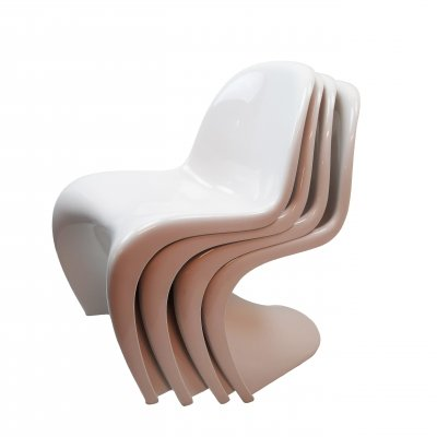 4x Verner Panton S chairs for Vitra/Fehlbaum, 1973