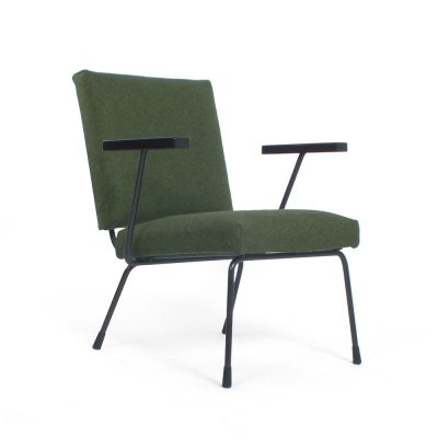 Green Wim Rietveld chair model 1401 for Gispen, 1950s