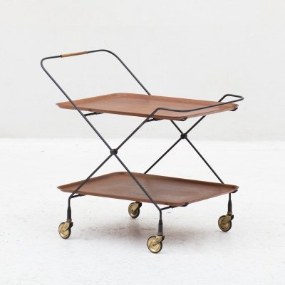 Serving trolley by Jie Gantofta, Sweden 1960s