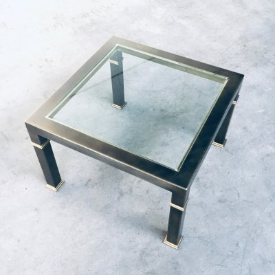 Post Modern Design Brushed Metal Coffee Table by Belgo Chrom, 1980's
