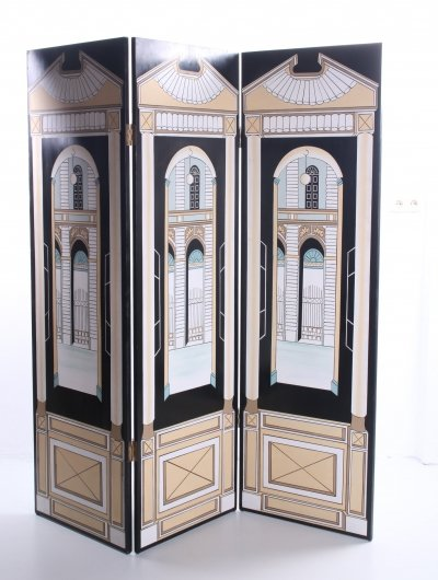 Handmade folding screen, Italy 1970s