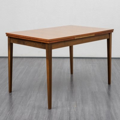 Mid Century extendable walnut dining table, 1960s