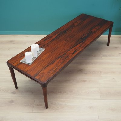 Rosewood coffee table by B. C. Møbler, Denmark 1970s