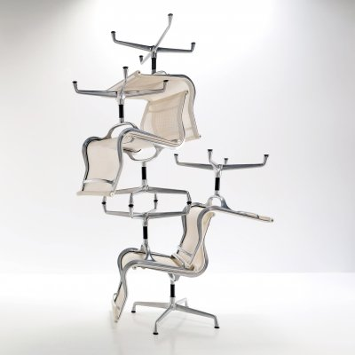 Set of 6 dining chairs by Charles & Ray Eames for Vitra, 1980s