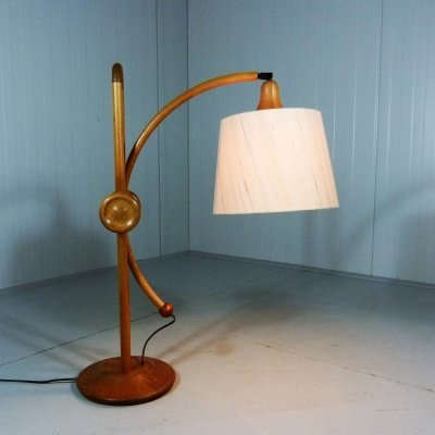 Adjustable teak table lamp, Denmark 1960's