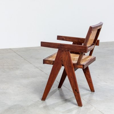 Pierre Jeanneret teak armchair for the Chandigarh Administration building, 1950