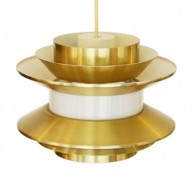 Pendant light 'Trava' in golden aluminium by Carl Thore for Granhaga Metallindustri