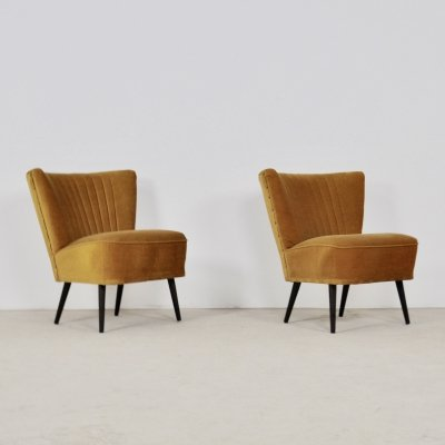 Pair of Mid-Century Cocktail Chairs, 1960s