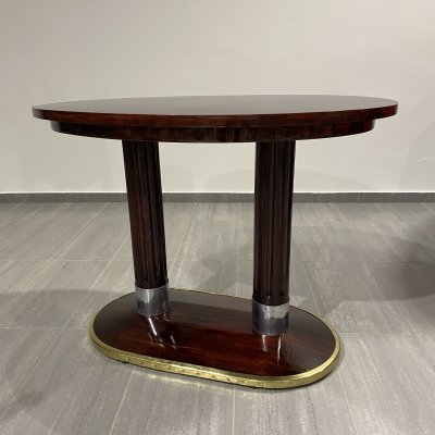 Double legged oval table by Josef Hoffmann for Thonet