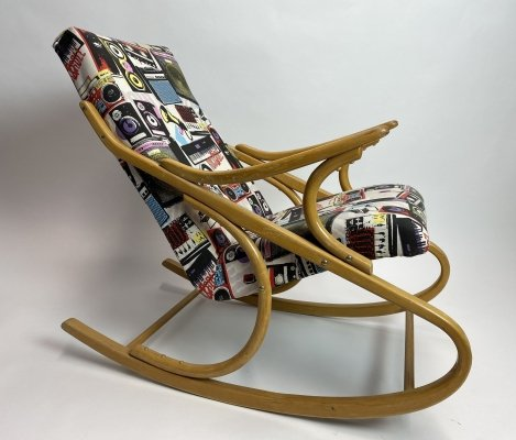 Rocking chair by Antonín Šuman for Ton
