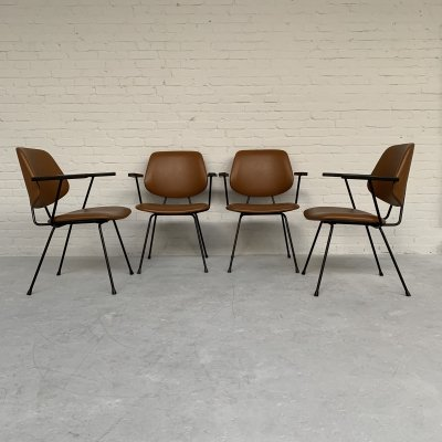 Set of 4 dining chairs by W. Gispen for Kembo, Netherlands 1950s