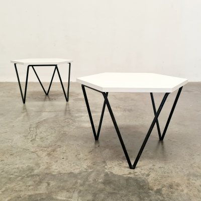 Set of 2 coffee/side tables by Gio Ponti for I.S.A. Italy, 1950s