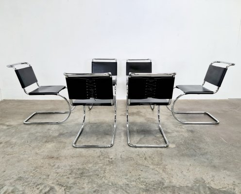 Set of 6 MR10 dining chairs by Mies van der Rohe for Knoll, 1970s