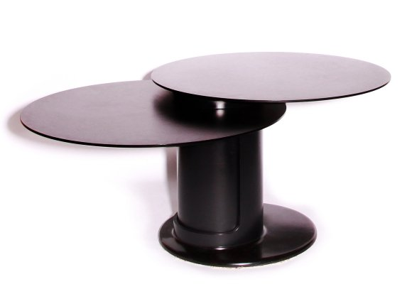 Two Swivel Table Tops Dining Room Table by Erwin Nagel for Rosenthal, 80s