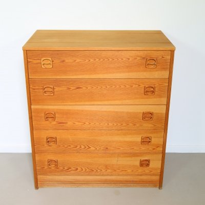 Pinewood chest of drawers, Sweden 1970's