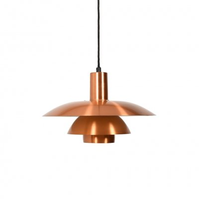 PH 4-4 1/2 Pendant Lamp in Copper by Poul Henningsen, 1970s