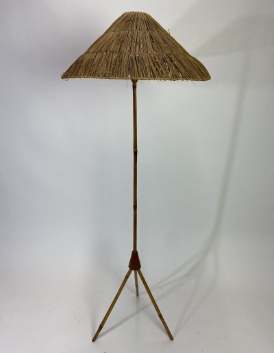 Bamboo floor lamp by Jozef Frank