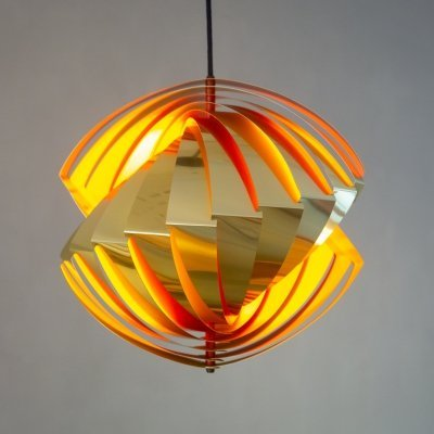 Konkylie hanging lamp by Louis Weisdorf for Lyfa, 1970s