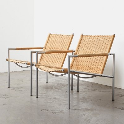 Martin Visser Pair of SZ01 Easy Chairs for 't Spectrum, 1960