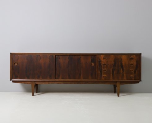 Sideboard by William Watting for Fristho in rosewood & teak, 1960s
