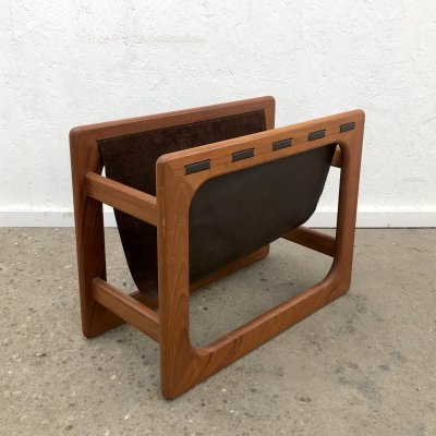 Danish magazine rack by Salin Møbler, 1970s