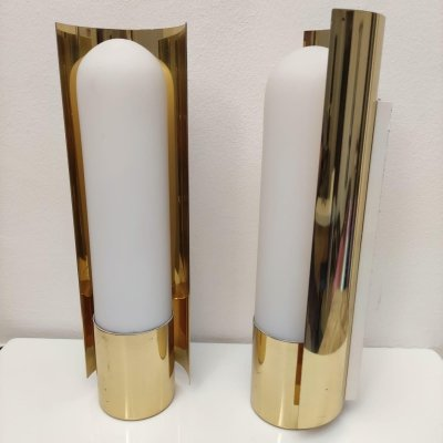 Mid-Century Modern pair of wall lamps by Glasshutte Limburg