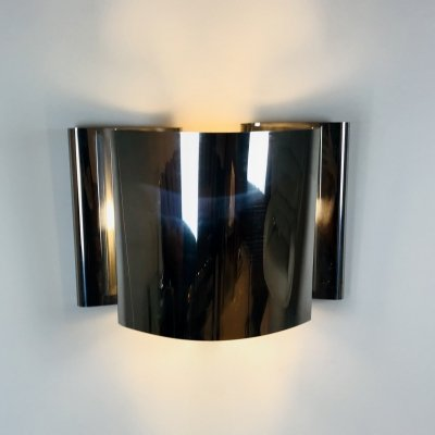 Chromed Steel Wall Light by Edera Radice for Sagim