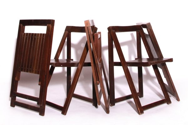 Set of 5 Aldo Jacober Folding Chairs for Alberto Bazzani, 1960s