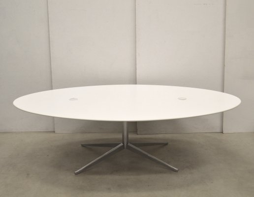Large Oval Conference Table by Florence Knoll for Knoll, 1990s
