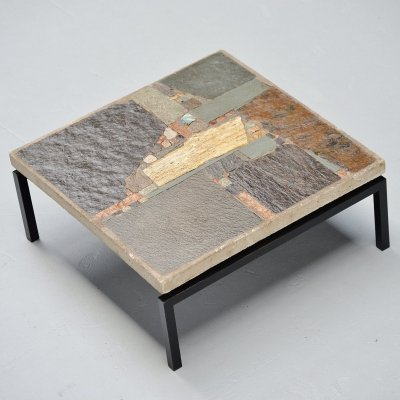 Rien Goene abstract artwork coffee table, Holland 1959