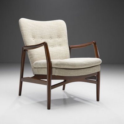 Kurt Olsen 'Model 215' Easy Chair for Slagelse Møbelværk, Denmark 1954