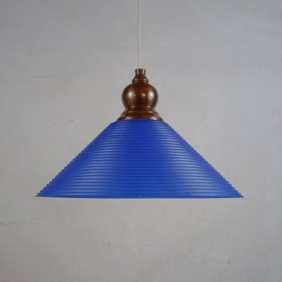 Vintage 'Trapp' coolie in blue glass by Gamla Stans Lampfabrik, Sweden 1980s