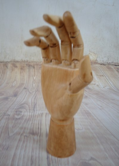 Lay figure, articulated hand