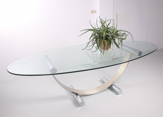 Large Hollywood Regency style dining table by Romeo Rega, 1970s