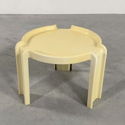 Cream Side Table by Giotto Stoppino for Kartell, 1970s