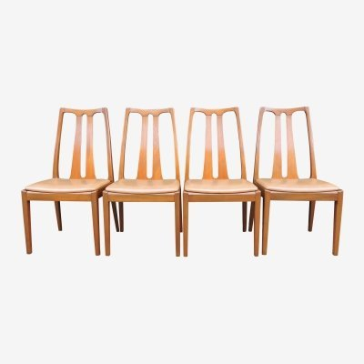 Set of 4 Vintage Teak Dining Chairs from Nathan & G-Plan, 1960s