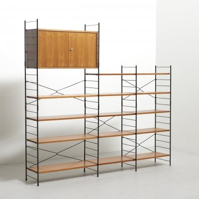Freestanding Shelving System in Teak, 1960s
