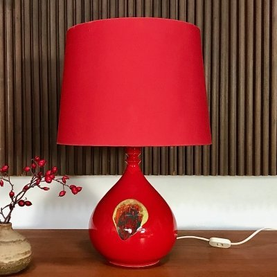 Glazed Ceramic Table Lamp by Bjørn Wiinblad for Rosenthal, 1960s