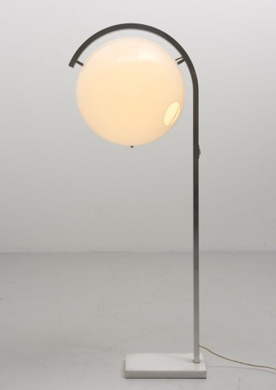 'Globe' Floor Lamp with Marble Foot, 1960's