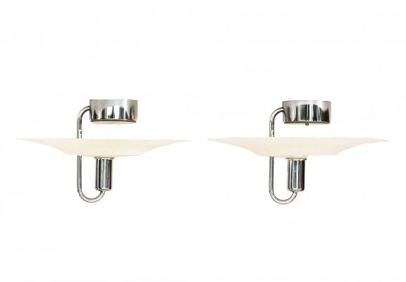 Pair of ceiling lights by Börge Lindau & Bo Lindekrantz for Zero Lighting