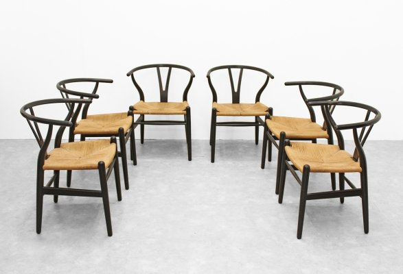 Set of 'Wishbone' chairs by Hans Wegner for Carl Hansen & Søn, 1960s